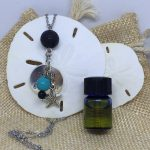 Never give up lava essential oils necklace