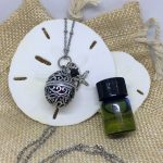 Oval Cage Lava Essential Oils Diffuser Necklace