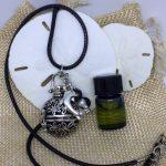 Round Cage Lava Essential Oils Necklace