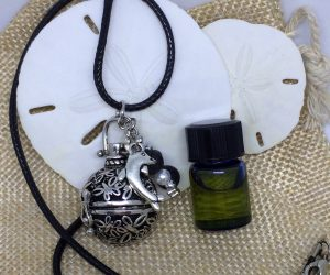 Round Cage Lava Essential Oils Necklace
