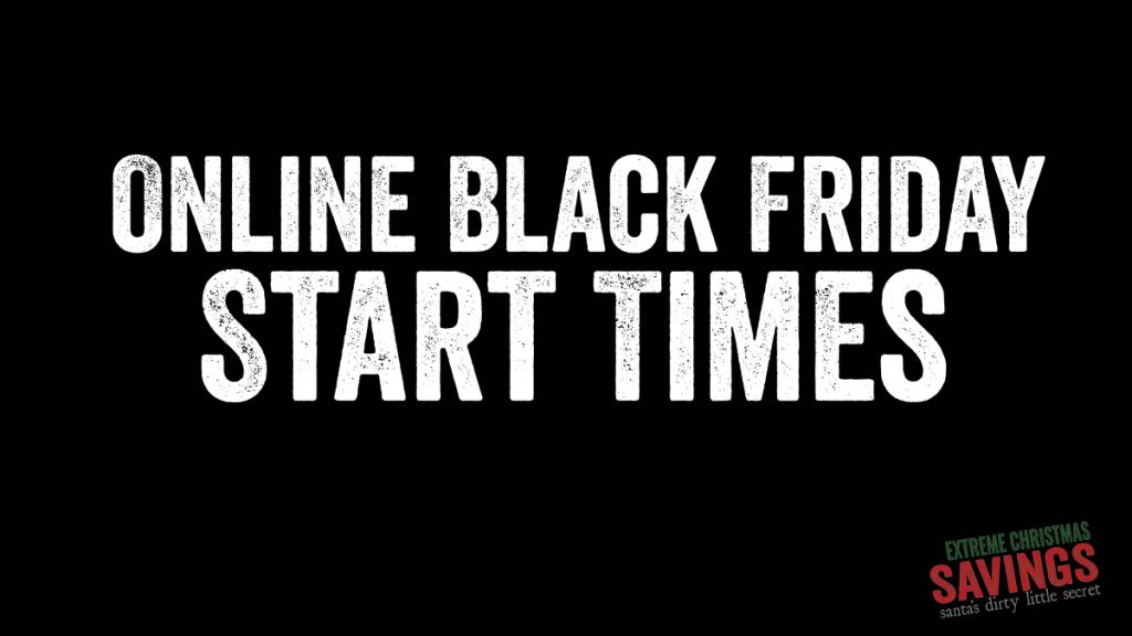 online black friday sale start times