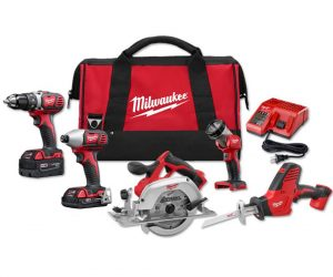 $279 (was $559) M18 18-Volt Lithium-Ion Cordless Combo Kit (5-Tool)