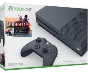 $199.96 (was $279.96) Microsoft Xbox One S (500GB) Battlefield 1 Special Edition Bundle, Storm Grey, ZZG-00028