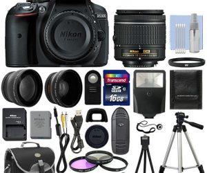 $489.99 (was $610) Nikon D5300 Digital SLR Camera + 3 Lens Kit 18-55mm Lens + 16GB Bundle