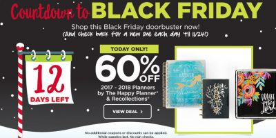 60% off 2017 – 2018 Planners at Michael's + 50% off one regular priced item