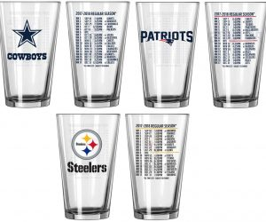 $9.99 (was $19.99) NFL 2017-'18 Schedule Pint Glass Set (2-Pack)