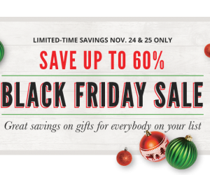 Cabela's Black Friday Sale – up to 60% savings + free shipping!