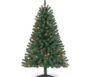 $19 (was $49.99) 4 Ft. Pre-Lit Hillside Pine Artificial Christmas Trees