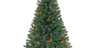$19 (was $49.99) 4 Ft. Pre-Lit Hillside Pine Artificial Christmas Trees