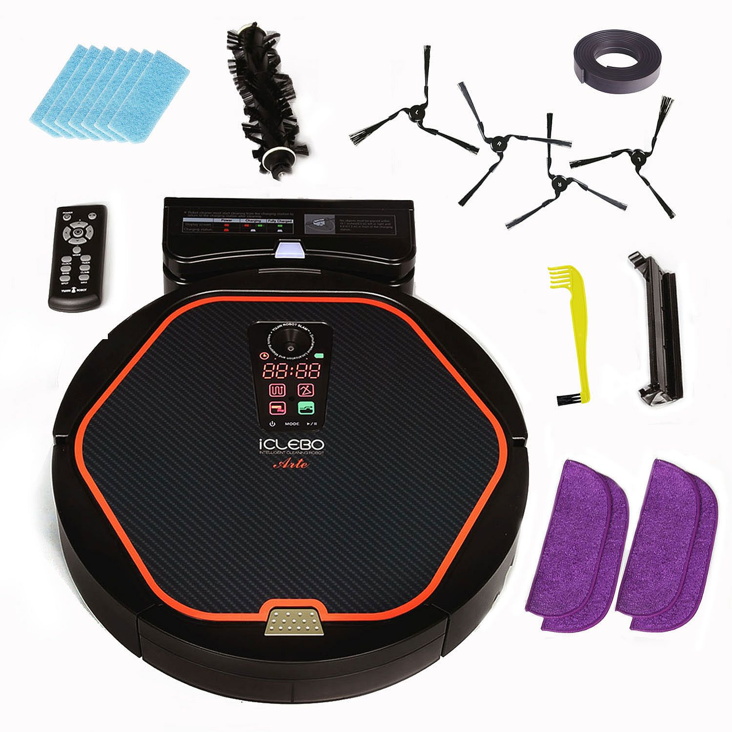 was iclebo arte robotic vacuum cleaner plus bonus pack bundle extreme. Black Bedroom Furniture Sets. Home Design Ideas