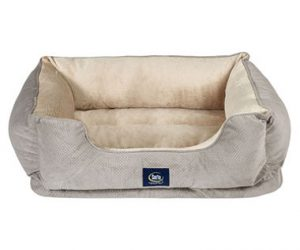 $29.84 (was $59.99) Serta Perfect Sleeper Orthopedic Cuddler Pet Bed, 34″ x 24″