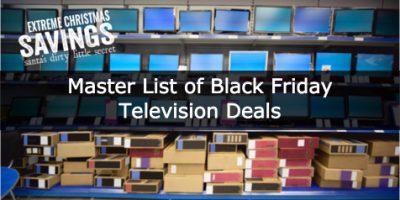 Master List of Black Friday Television D...