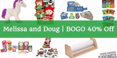 BOGO 40% off Melissa and Doug Toys