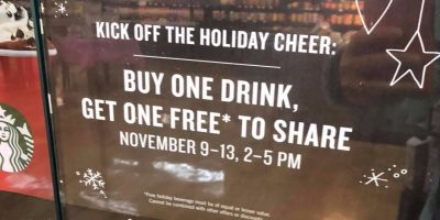 Starbucks: BOGO Happy Hour {November 9th-13th}