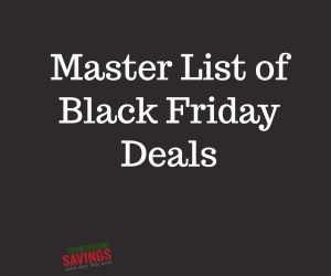 Master List of Black Friday Deals