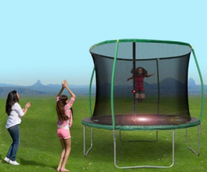 $58.47 (was $119) 10 ft. Trampoline with Steelflex Pro Enclosure and mini Flashlight zone