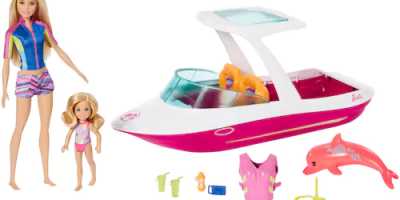 $27.99 (was $79.99) Barbie Dolphin Magic Ocean View Boat Set