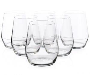 $12.99 (was $34.99) Bormioli Rocco Electra Stemless Glasses – 12.75 fl.oz., Set of 6
