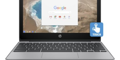 """$169 (was $259) HP 11-v025wm, 11.6"""" Touch Chromebook"""