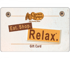 $85 (was $100) Cracker Barrel Old Country Store Gift Card