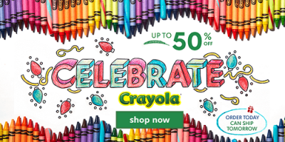 up to Half Off Crayola Sale At Zulily