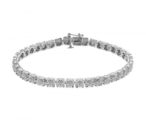 $55.99 (was $305) Sterling Silver 1/4 Carat T.W. Diamond Tennis Bracelet And Get $10 Kohl's Cash!