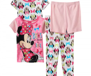 $12.24 (was $36) Disney's Minnie Mouse Toddler Girl 4-pc. Tee, Shorts & Pants Set