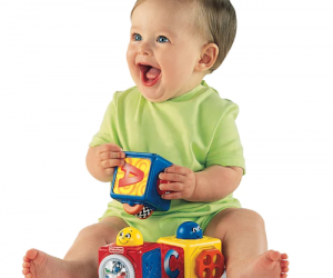 $6.59 (was $21.99) Fisher-Price Brilliant Basics Stacking Action Blocks