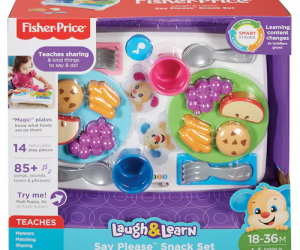 $14.24 (was $37.99) Fisher-Price Laugh And Learn Say Please Snack Set