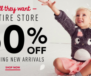 50% off EVERYTHING at Gymboree + $25 Coupon!