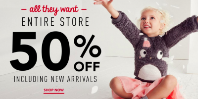 50% off EVERYTHING at Gymboree + $25 Cou...