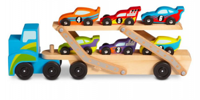 $17.98 (was $29.99) Melissa & Doug Jumbo Racecar Carrier