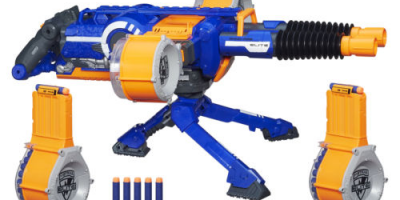 $55.99 (was $119.99) NERF N-Strike Elite Rhino-Fire Motorized Double-Barrel Blaster