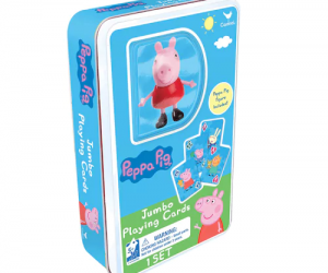 $3.59 (was $9.99) Peppa Pig Jumbo Playing Cards And Figure Set by Cardinal