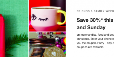 Save 30% at Starbucks This Weekend!