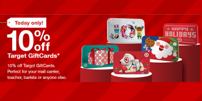 10 Percent Off Target Gift Cards Today O...