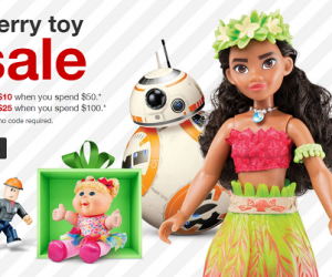 Target Toy Sale – $10 Off $50 or more And $25 Off $100 or more!