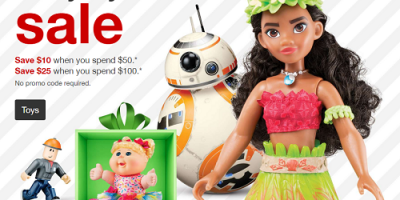 Target Toy Sale – $10 Off $50 or m...