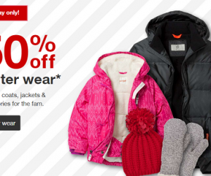 50 Percent Off Winter Wear At Target (Today Only)