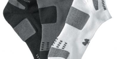 $4.88 (was $14.99) Under Armour Men's HeatGear No-Show Socks – Three-Pack
