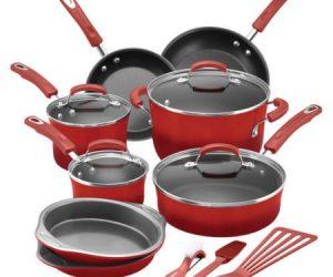 $79 (was $129.99) Rachael Ray 15-Piece Hard Enamel Nonstick Cookware Set