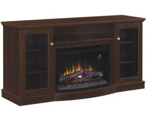 $189.99 (was $349) ChimneyFree Media Electric Fireplace for TVs up to 65″ – Espresso