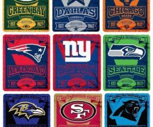 $15.95 NFL Teams New Logo Large Soft Fleece Throw Blanket 50″ X 60″ Marque
