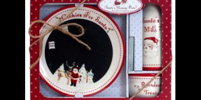 $14.97 (was $29.99) Child to Cherish Santa's Message Chalkboard Plate Set