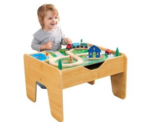 $39.97 (was $99.96) KidKraft 2-in-1 Activity Table With Board – Natural with 230 accessories included