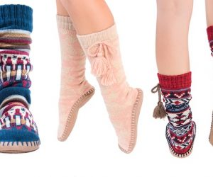 $9.99 (was $22) Muk Luks Women's Tall Tassel Slipper Socks