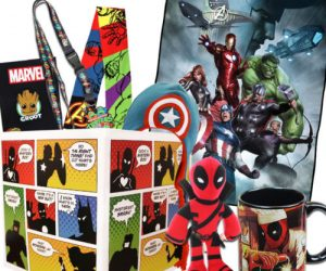 $35.49 (was $44) Superhero Gift Box with Avengers Fleece Blanket, Exclusive Groot Pin