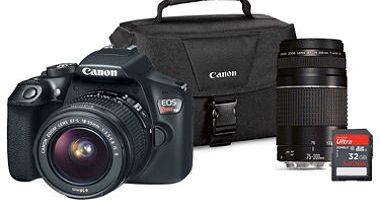 $449 (was $749) Canon EOS Rebel T6 DSLR ...