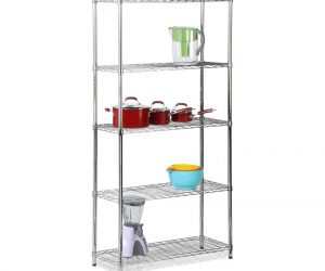 $32.53 (was $66) 5-Shelf 72 in. H x 36 in. W x 14 in. D Steel Shelving Unit in Chrome