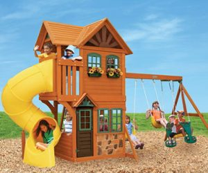 $999 (was $1,423) Cedar Summit Boulder Station Play Set